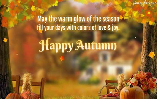 Warm Wishes For A Happy Autumn Free Happy Autumn ECards Greeting Cards 123 Greetings