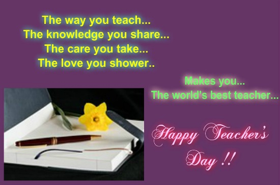 To A Special Teacher Free Teachers Day India ECards