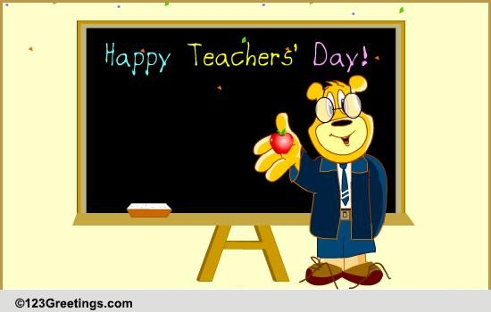 Teachers Day India Cards Free Teachers Day India ECards 123 Greetings