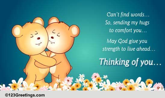 Sending My Hugs Free Sympathy Amp Condolences ECards