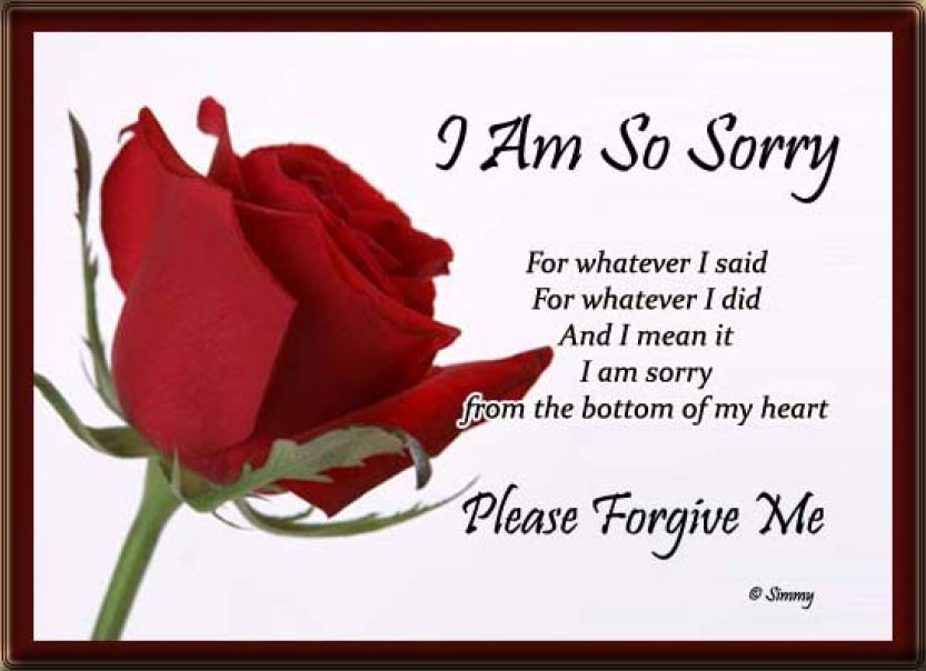 For her please me forgive poems Please, Forgive