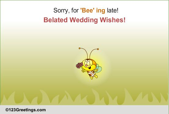 Belated Wedding Wishes Free Belated Wishes ECards Greeting Cards 123 Greetings