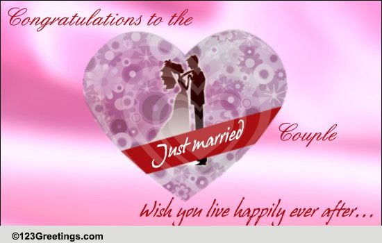Congrats Free Just Married ECards Greeting Cards 123 Greetings