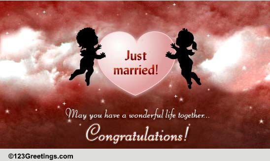 Wishes For A Just Married Couple Free Just Married ECards 123 Greetings