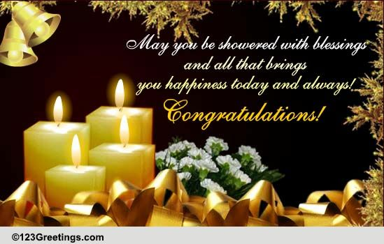 Shower Your Blessings Free Congratulations ECards Greeting Cards 123 Greetings
