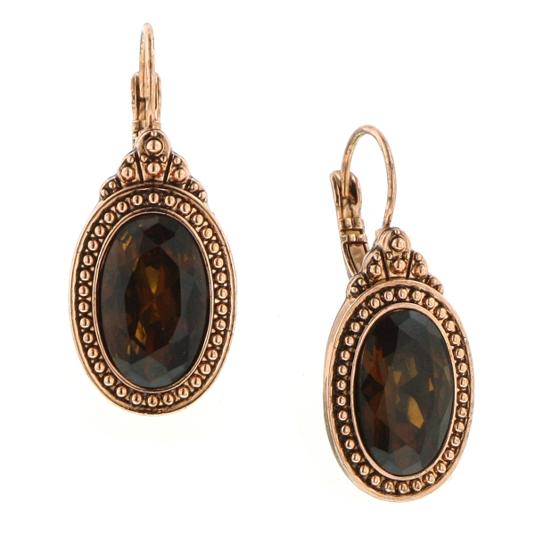Majestic Amber Topaz Drop Earrings