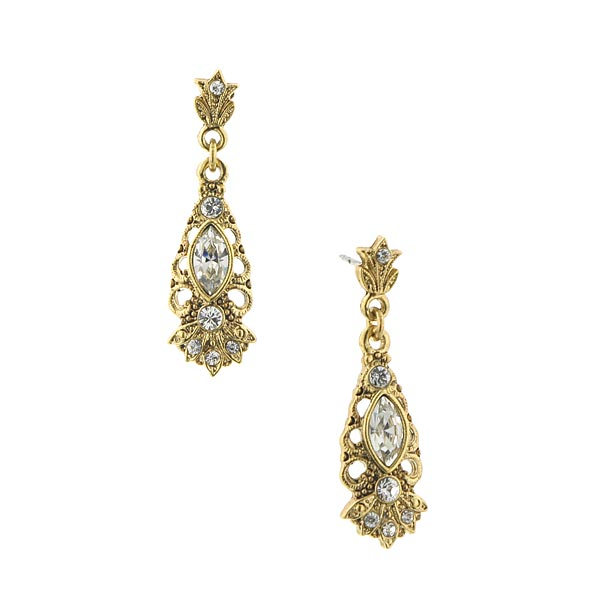 Dolores Vintage Crystal Drop Earrings