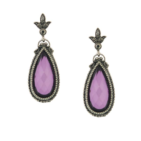 Morado Jewel Amethyst Teardrop Earrings
