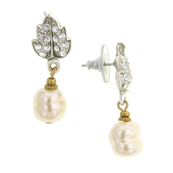 Antiquities Couture Swarovski Baroque Pearl Drop Earrings