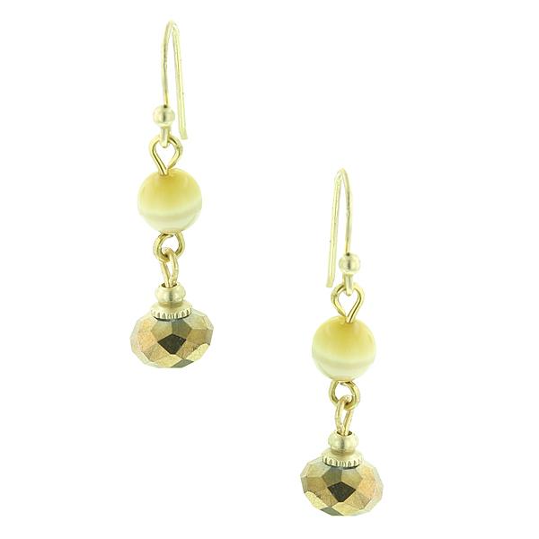 Butterscotch Bead Dangle Earrings