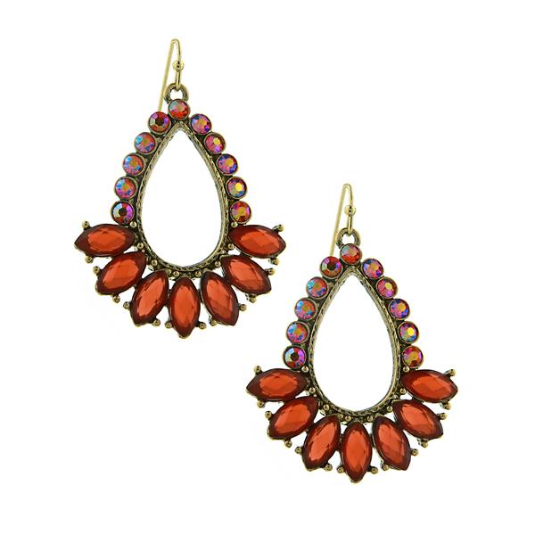 2028 Coral Crystal Island Earrings