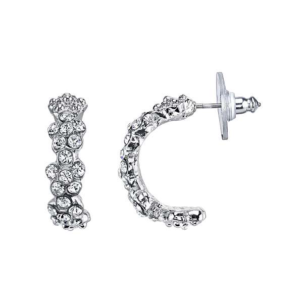 2028 Amore Floral Arc Half-Hoop Earrings