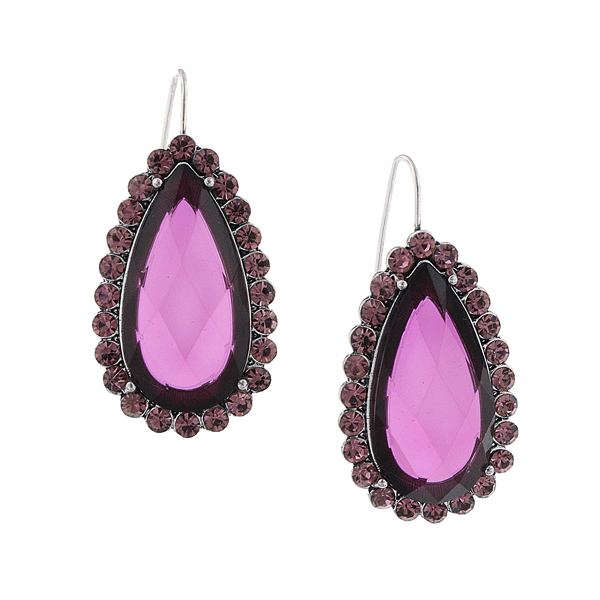 2028 Berry Lucite Teardrop Earrings