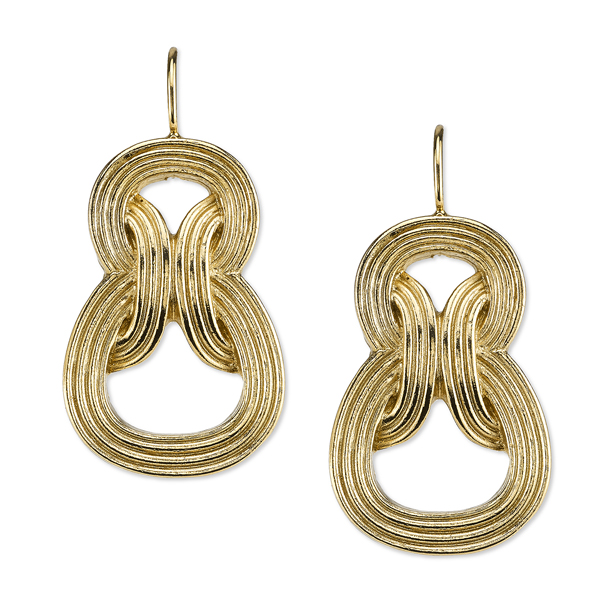 2028 Spring Tailored Gold-Tone Link Drop Earrings