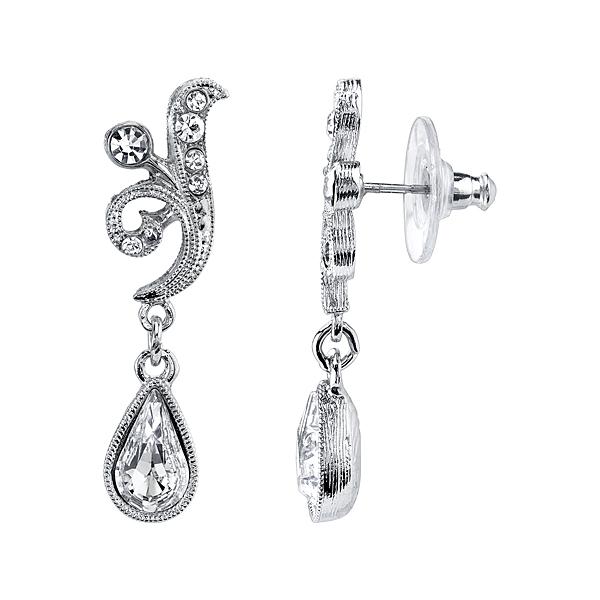 Bridal Crystal Fancy Drop Earrings