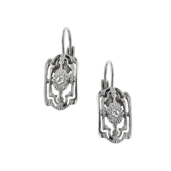 Alex Nicole® Heirlooms Flower Lattice Drop Earrings
