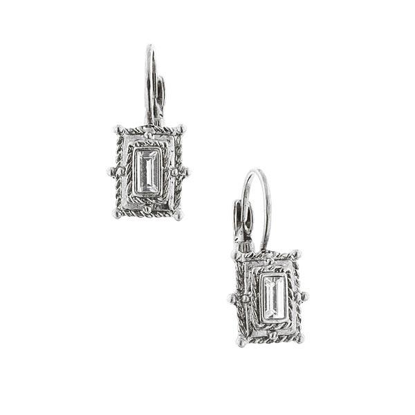 Alex Nicole® Heirlooms 1920s Baguette Crystal Earrings