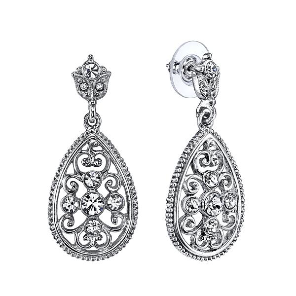 Victorian Inspired Teardrop Earrings