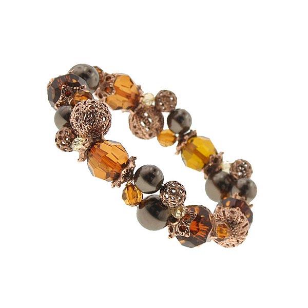 Kaitlyn Topaz & Copper Stretch Bracelet