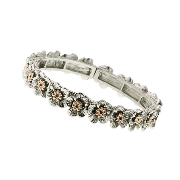 Ambracia Clusters Flower Stretch Bracelet