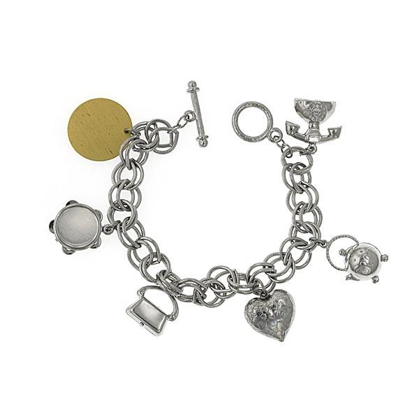 Retro Baubles Custom Engraved Charm Bracelet
