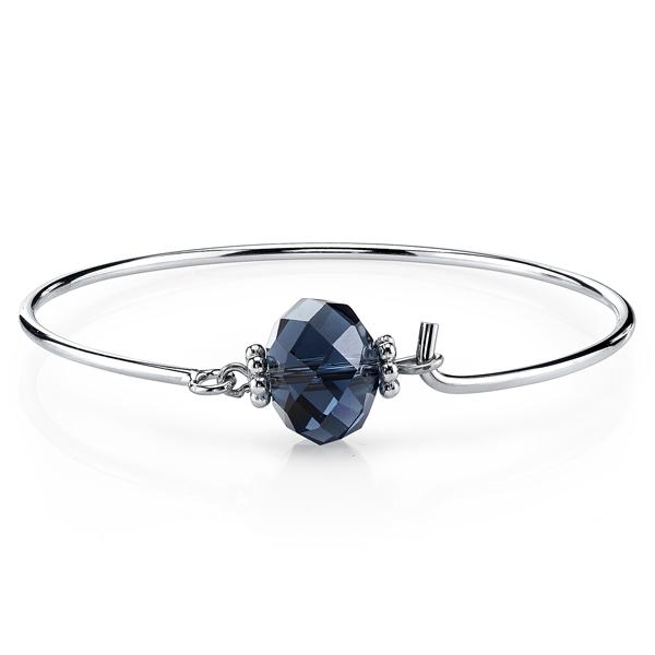 2028 Silver-Tone Blue Wire Bangle Bracelet