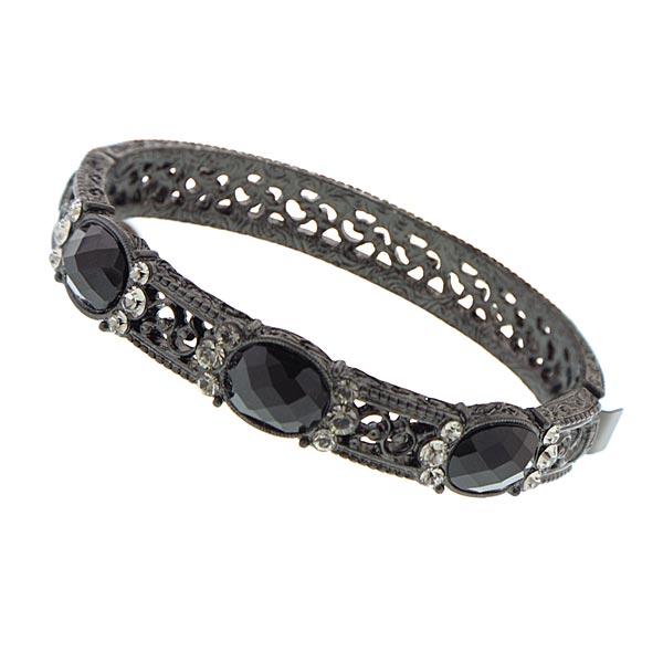 Victorian Jewel Garden Black Clasp Bracelet