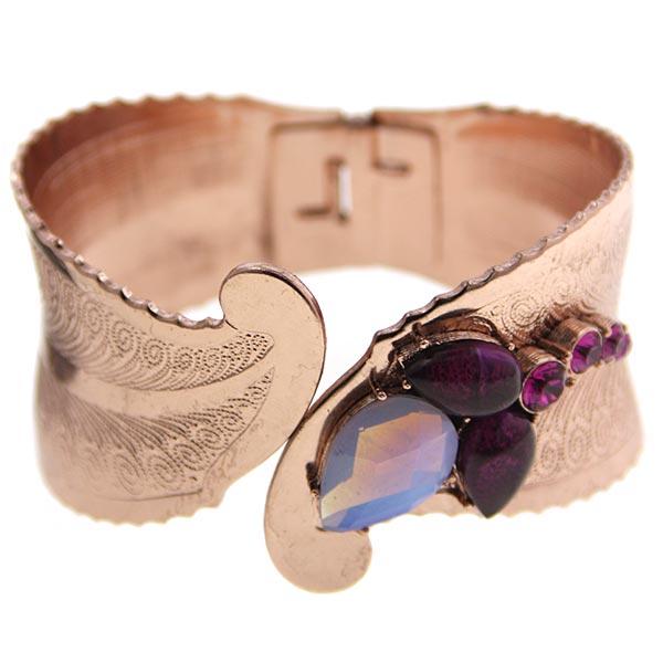 Morado Amor Cuff Bracelet