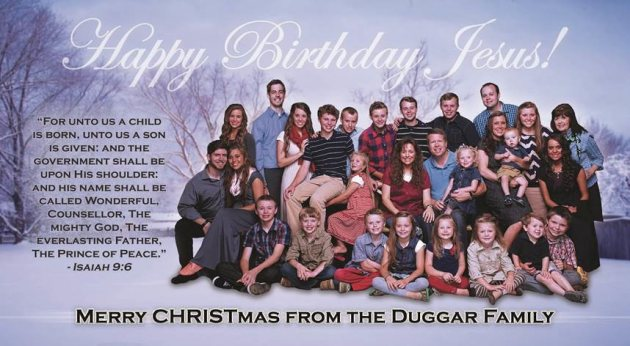 Duggar Family Christmas Card Is Actually Birthday Card