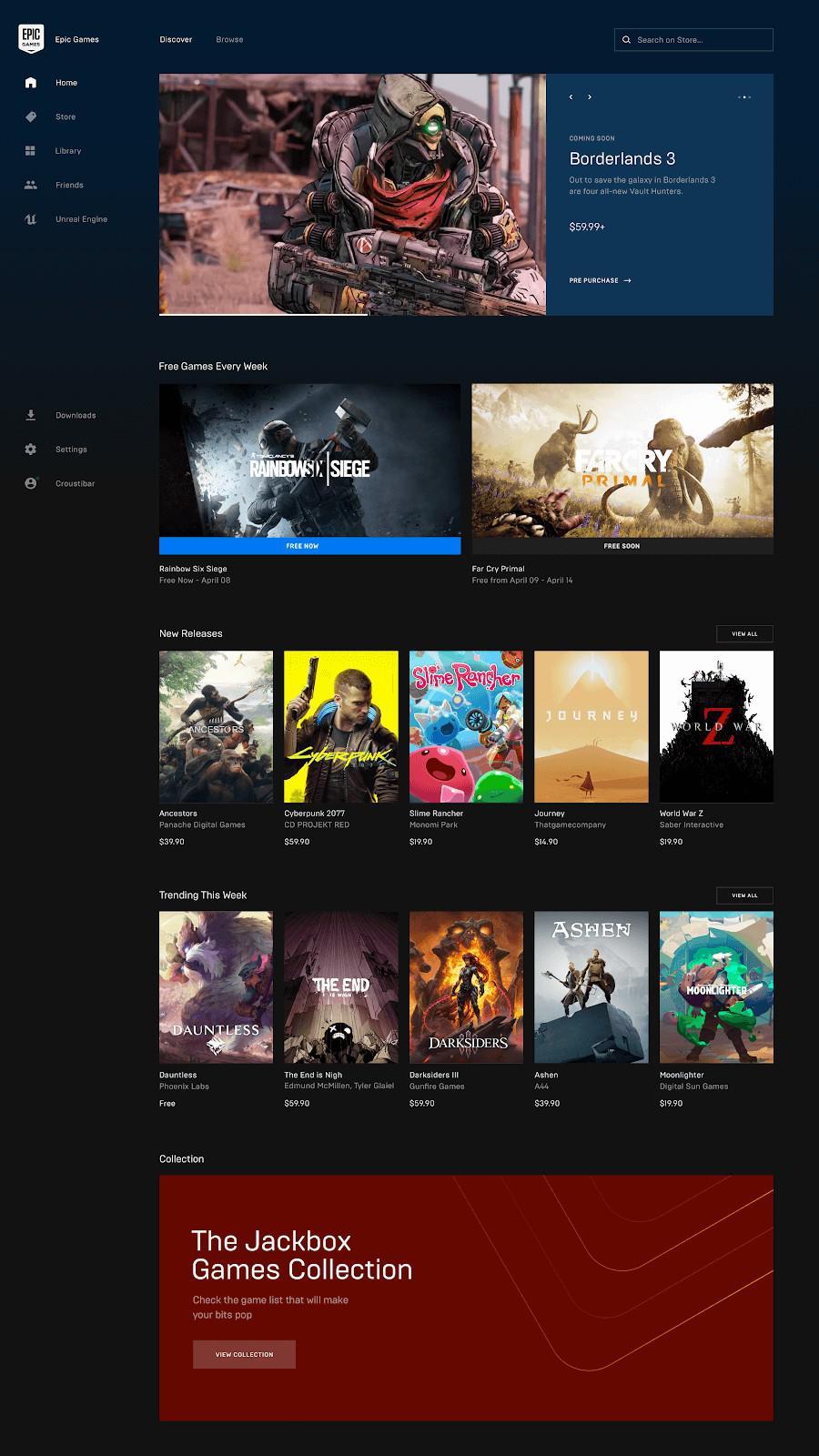 Epic商城功能更新 優化補丁大小和遊戲庫列表檢視   電玩01