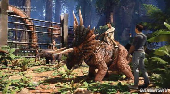 TGS 2017:《方舟:公園》預告 絕美恐龍樂園暗藏殺機   電玩01