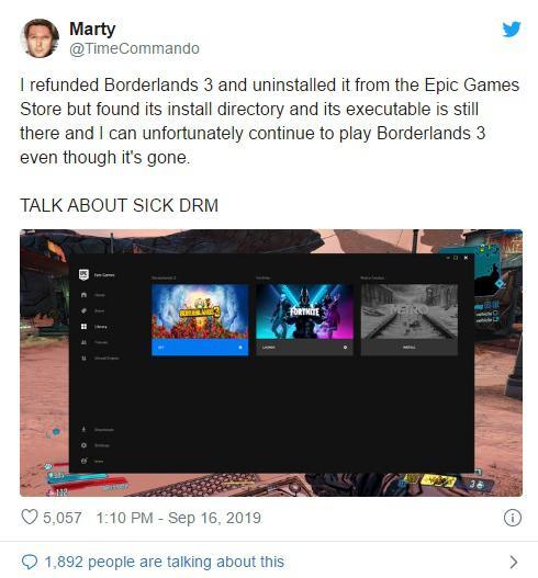 Epic商城再次曝出DRM漏洞 玩家不花錢就能玩所有遊戲   電玩01