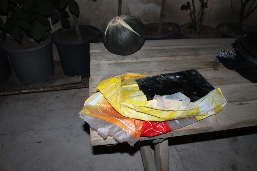 Akıncı Üssü yanındaki tarlada kırılmış 3 bilgisayar bulundu