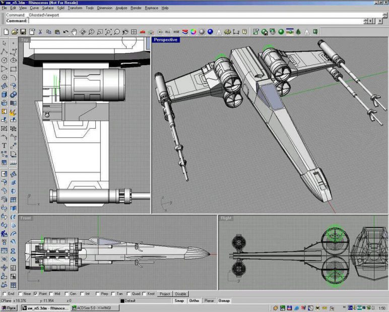 Image of Best 3D Software (3D Modeling Software/3D Design Software): Rhino3D