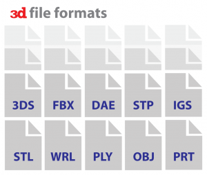 Almost all 3D file formats can be theoretically used for 3D printing