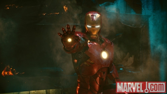 Iron Man, powered up in Iron Man 2