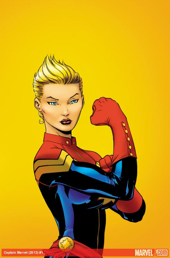 Captain Marvel (2012) #1 cover by Ed McGuinness
