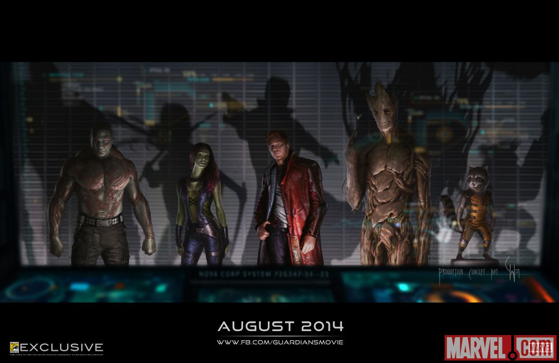 Marvel's Guardians of the Galaxy concept art poster available at San Diego Comic-Con 2013