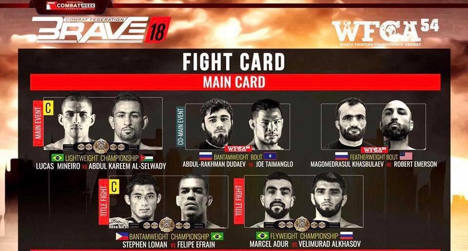 brave releases full fight card for bahrain return arabsmma