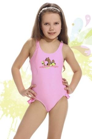 reducere Costum de baie fetite Smiling roz, cel mai mic pret