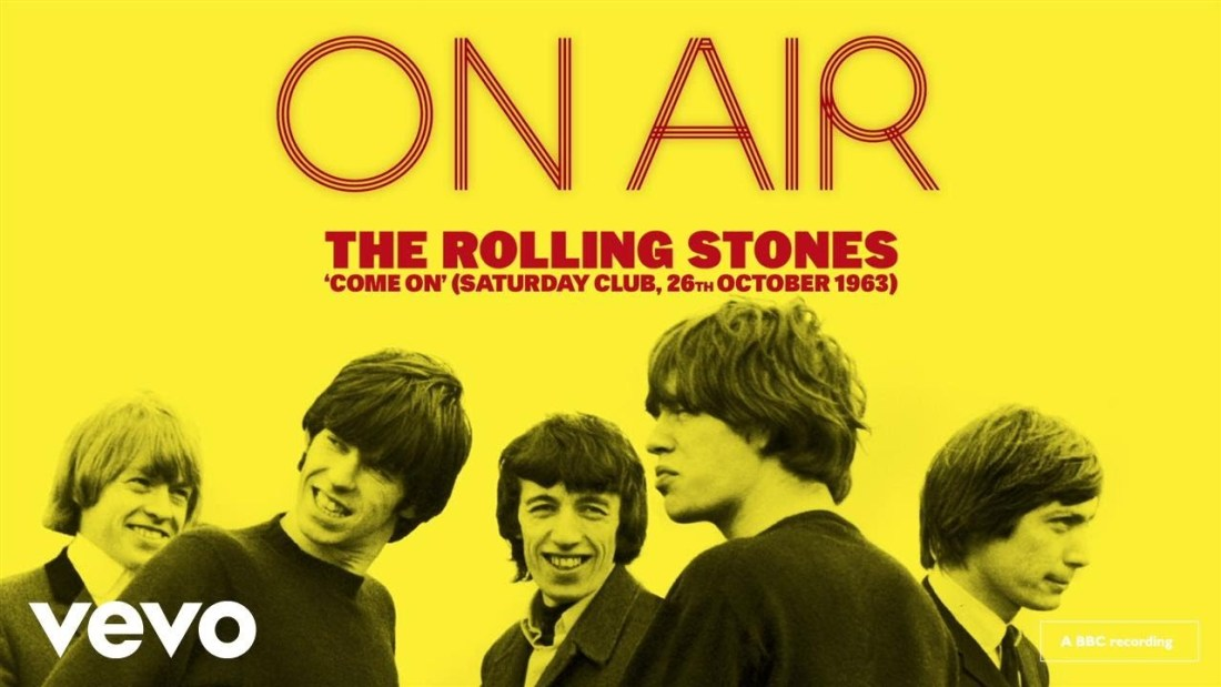 New Albums ON Air New Album Cover Art The Rolling Stones Band Release Living Recording Mick Jagger Yellow Black