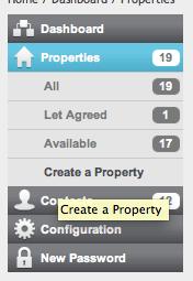 BDP Property menu