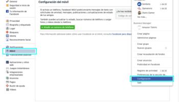 Configuracion De Facebook