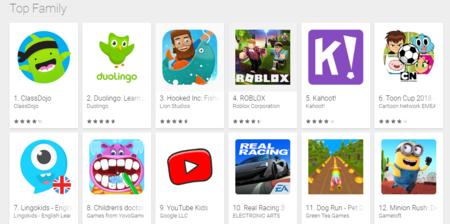 Play Store Top Juegos Familia