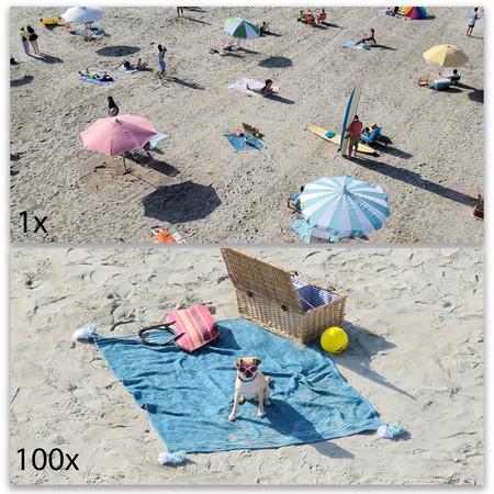 Samsung Comparativa Fotos 1x 100x