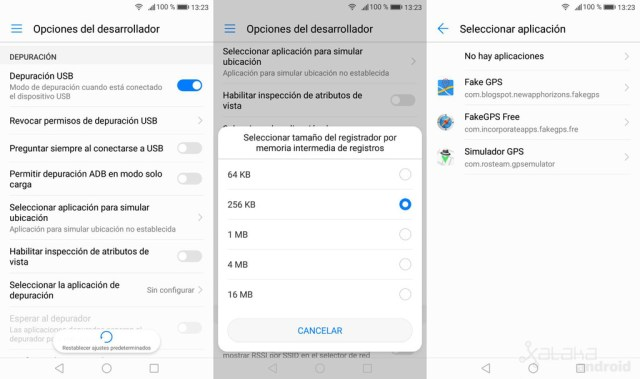 Depuracion Usb Android