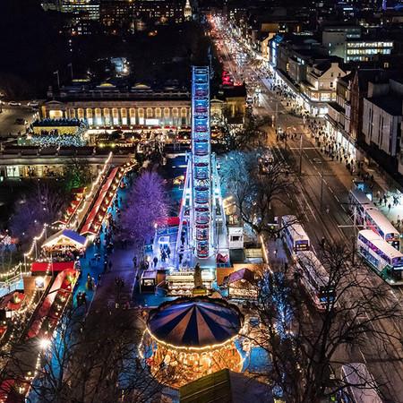 Edimburgo Desde El Aire Ciudades Europeas Con Mas Luces En Navidad