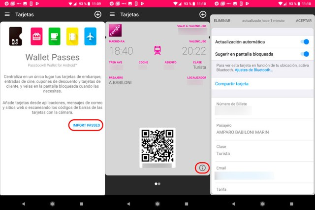 Passbook Android WalletPasses
