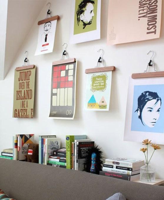 Una buena idea: cuelga tus fotos o diseños en perchas para decorar una pared-8-sorbos-de-inspiracion-tablón-paredes-decoradas-con-tablas-de-cortar-pared-cocina-ideas-paredes-cocinas-pared-pintura-magnética-pared-pintura-de-tiza