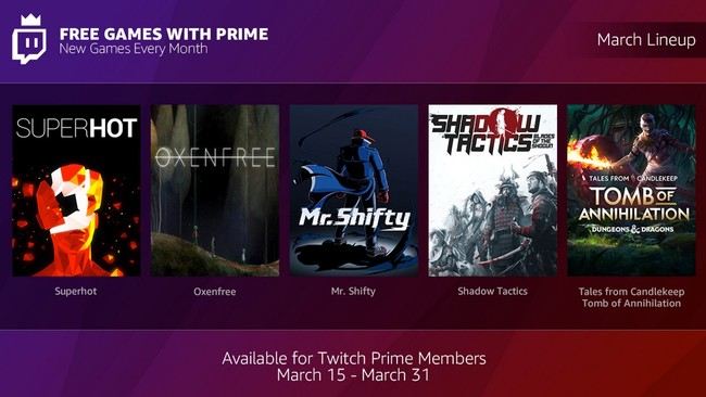 Free Games With Prime Twitch Amazon